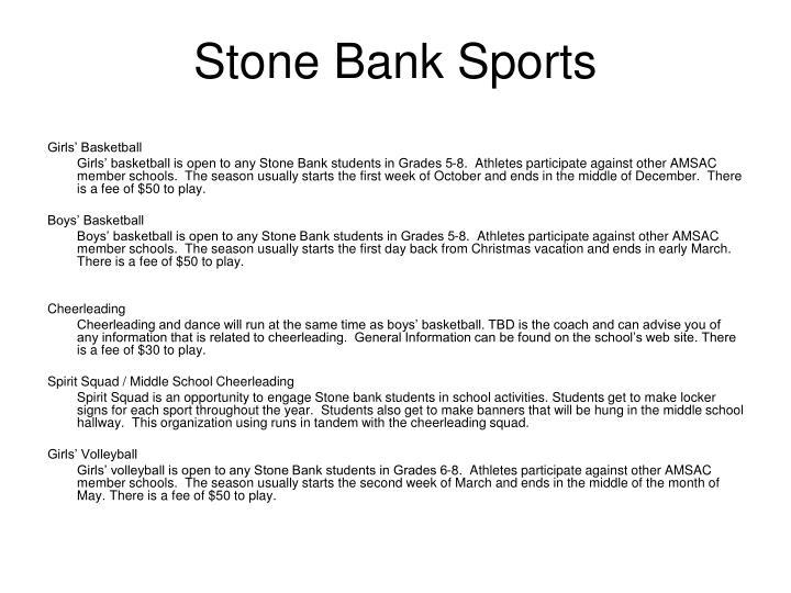 Stone Bank Sports