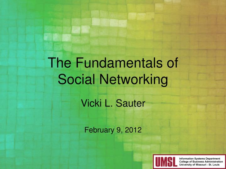 the fundamentals of social networking n.
