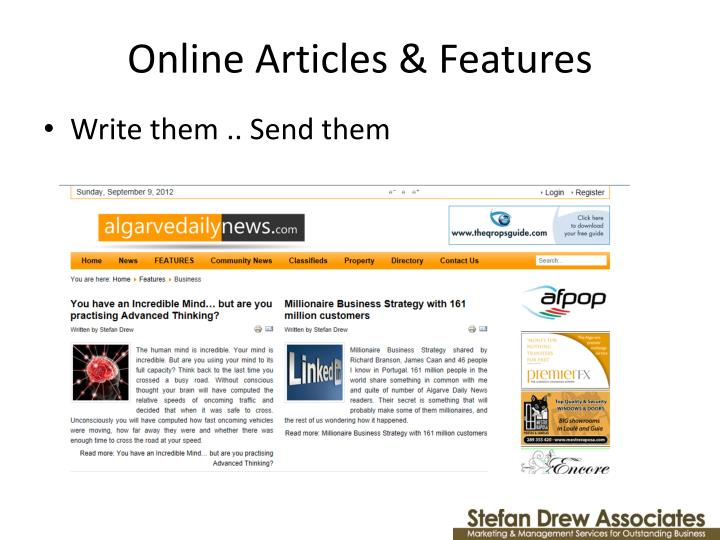Online Articles & Features