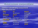 subordinate conjunctions1