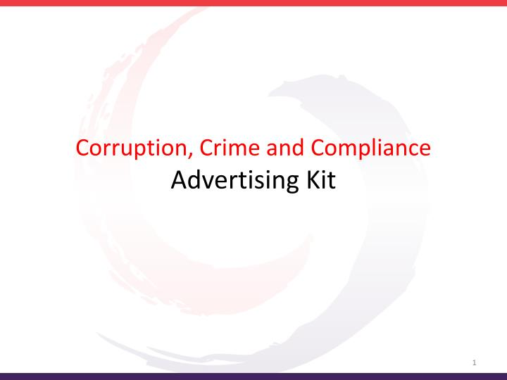 corruption crime and compliance advertising kit