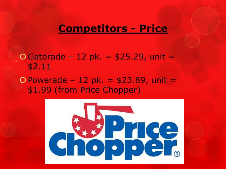 Competitors - Price