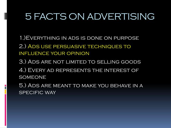 5 facts on advertising