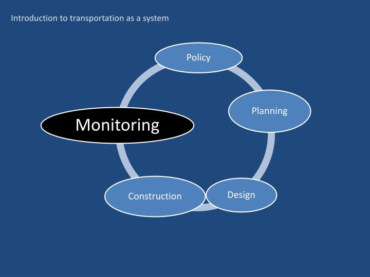 Introduction to transportation as a system