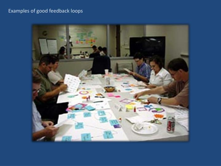 Examples of good feedback loops