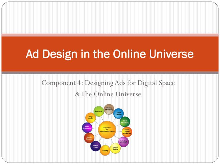ad design in the online universe n.