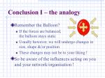 conclusion i the analogy