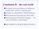conclusion ii the real world