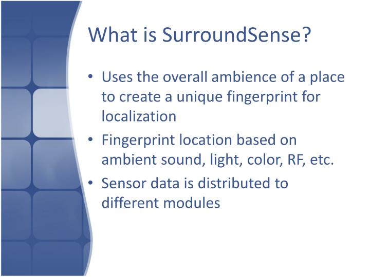 What is surroundsense
