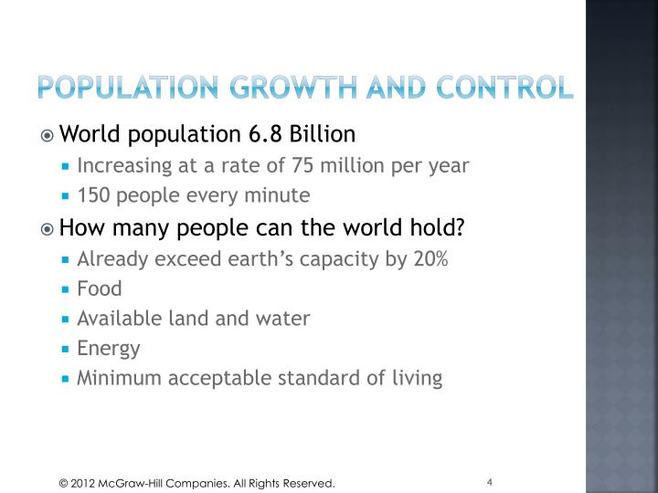 Population growth and control