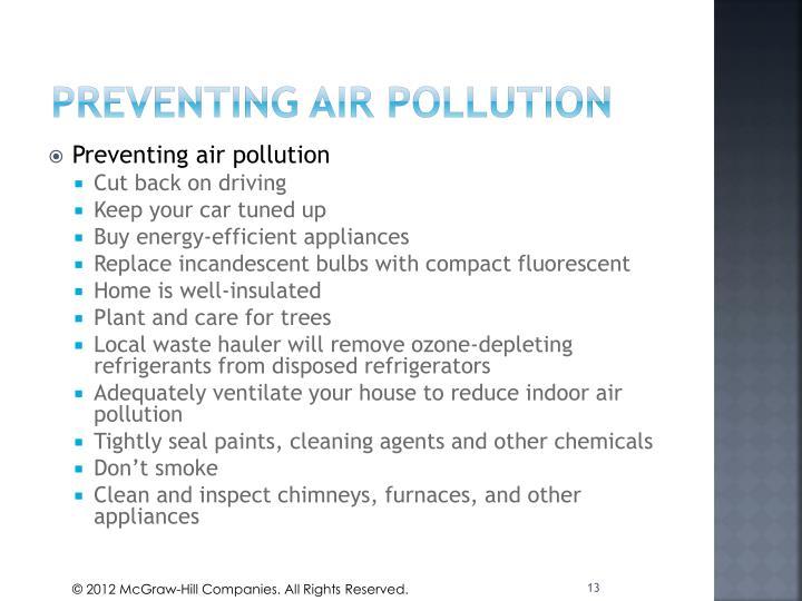 PREVENTING AIR POLLUTION
