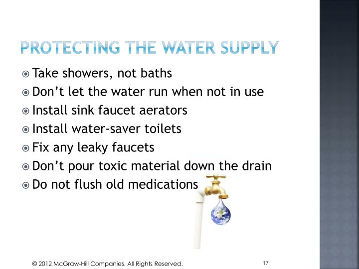 Protecting the water supply