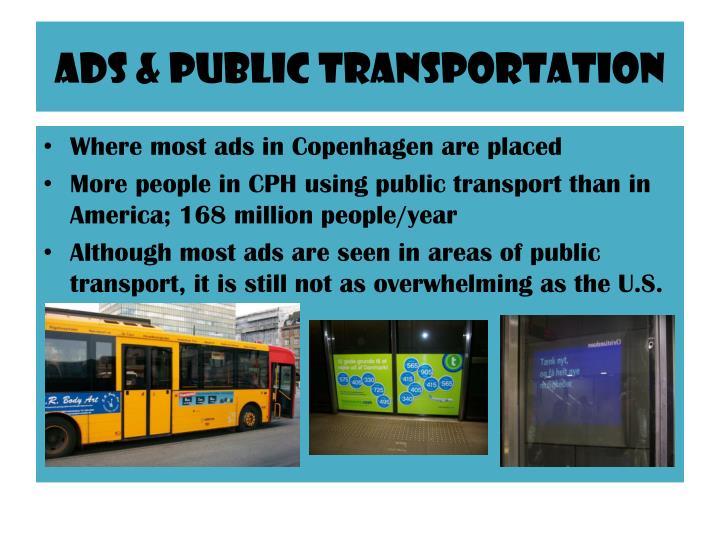 Ads & Public Transportation