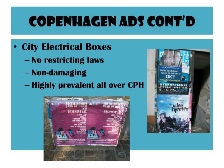 Copenhagen ads Cont'd