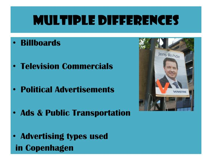 Multiple differences