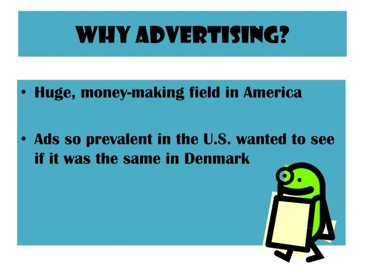 Why advertising