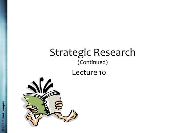 strategic research continued n.