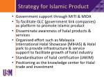 strategy for islamic product
