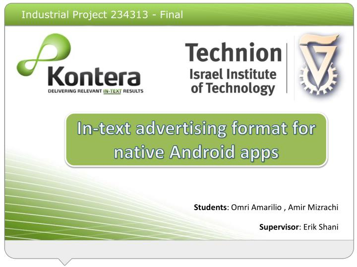 in text ads the mobile web n.