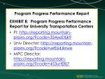 program progress performance report