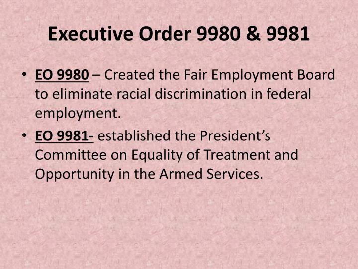 Executive Order 9980 & 9981