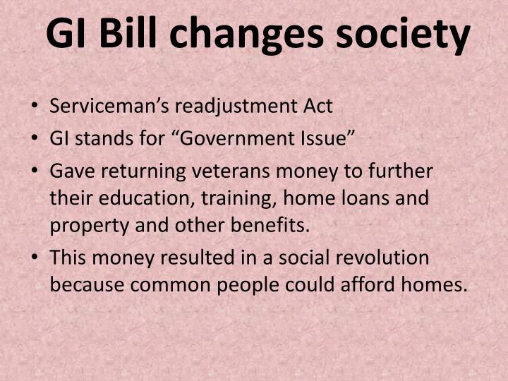 GI Bill changes society