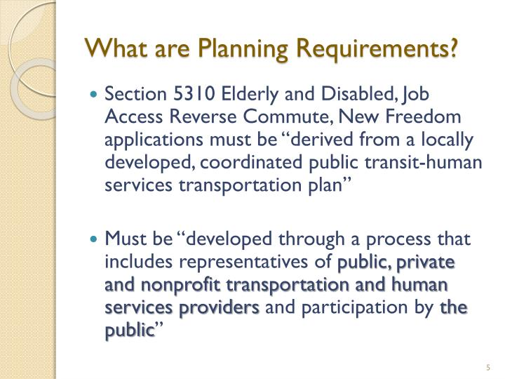 What are Planning Requirements?