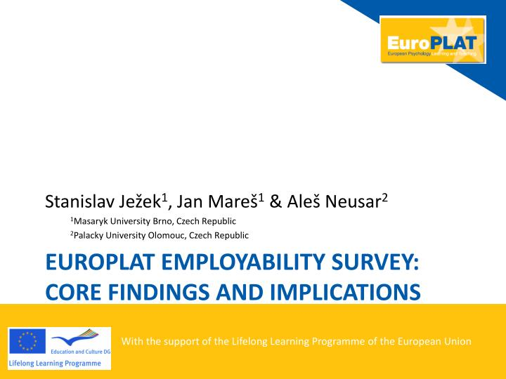 Euro p lat employability survey core findings and implications