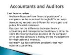 accountants and auditors1