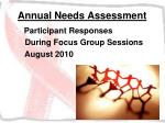 annual needs assessment20