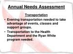 annual needs assessment23