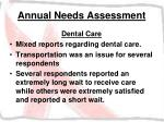 annual needs assessment24