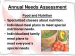 annual needs assessment26