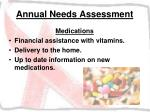 annual needs assessment32