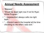 annual needs assessment39