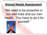 annual needs assessment41