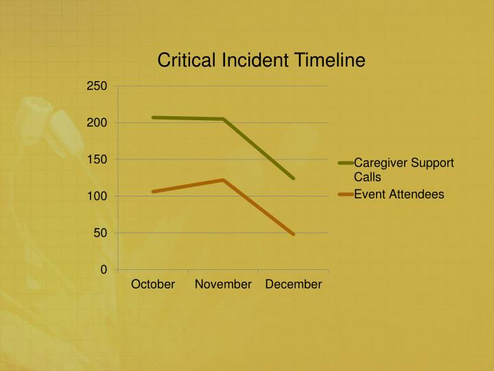 Critical Incident Timeline