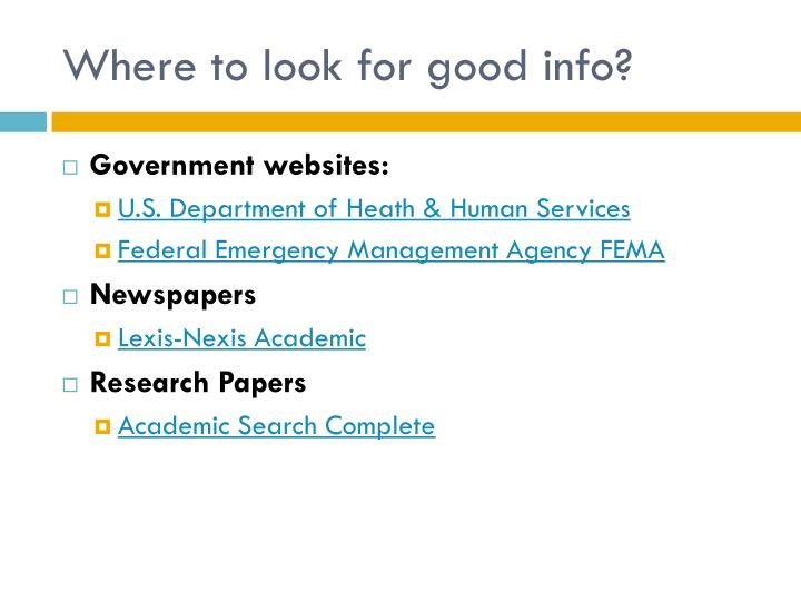 Where to look for good info?