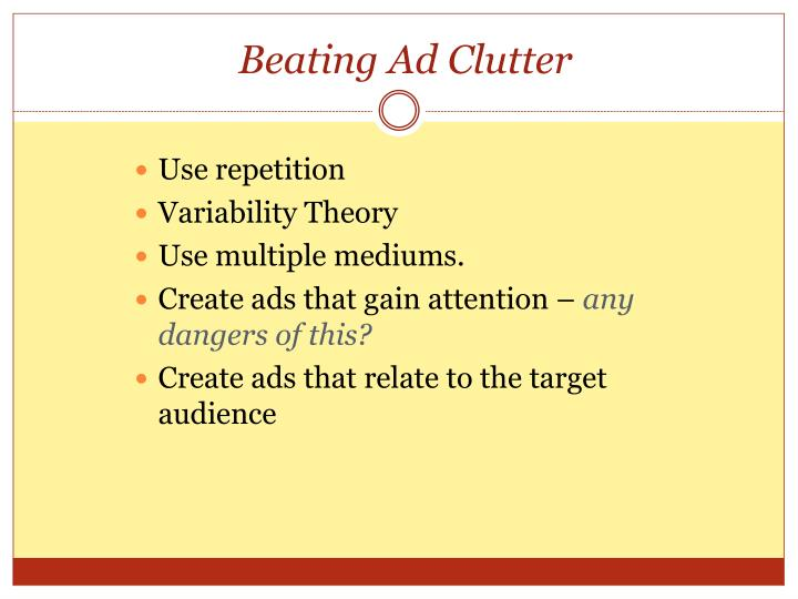 Beating Ad Clutter