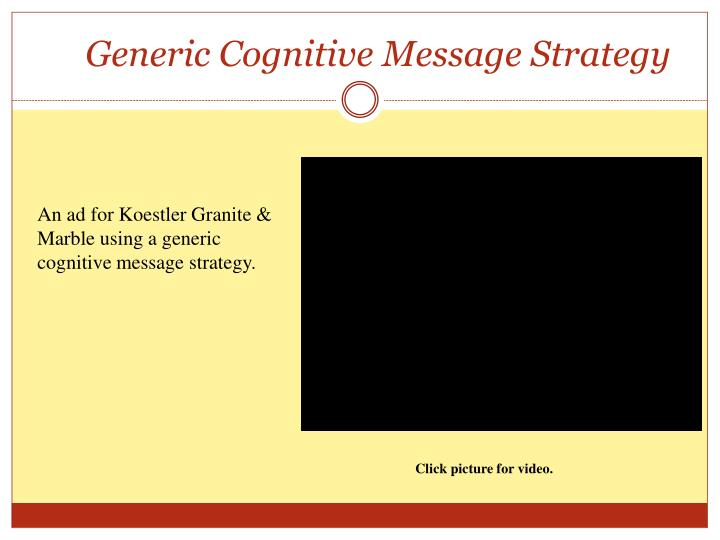Generic Cognitive Message Strategy