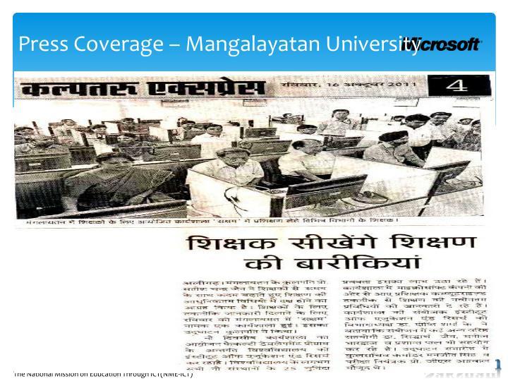 Press Coverage –