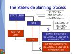 the statewide planning process