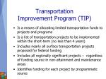 transportation improvement program tip