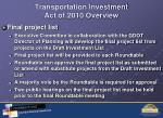 transportation investment act of 2010 overview2