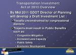 transportation investment act of 2010 overview3