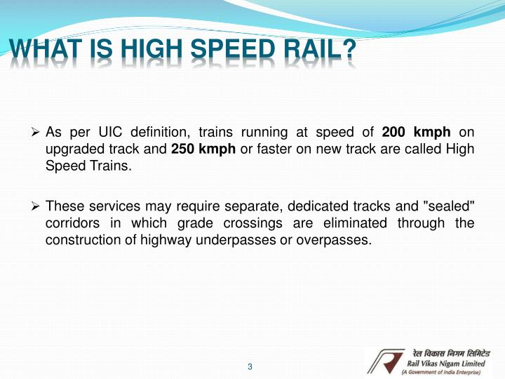 What is high speed rail