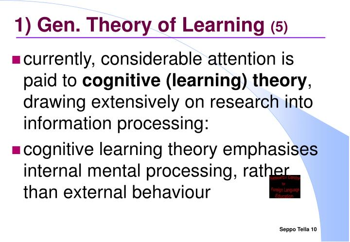 1) Gen. Theory of Learning