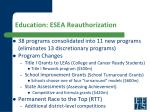 education esea reauthorization