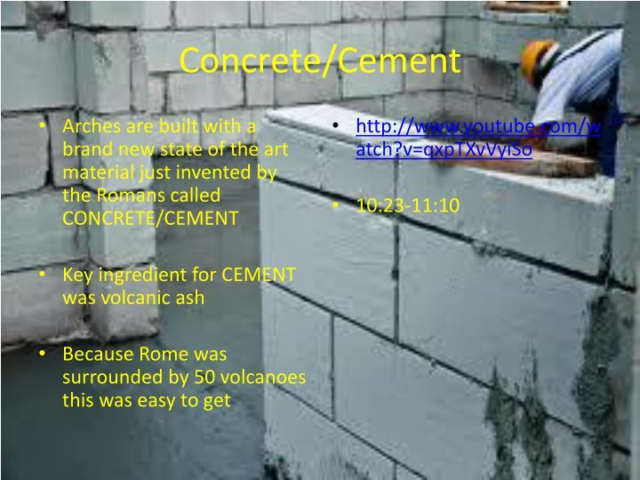 Concrete/Cement