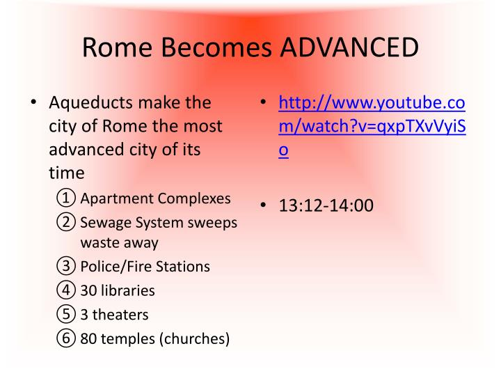 Rome Becomes ADVANCED
